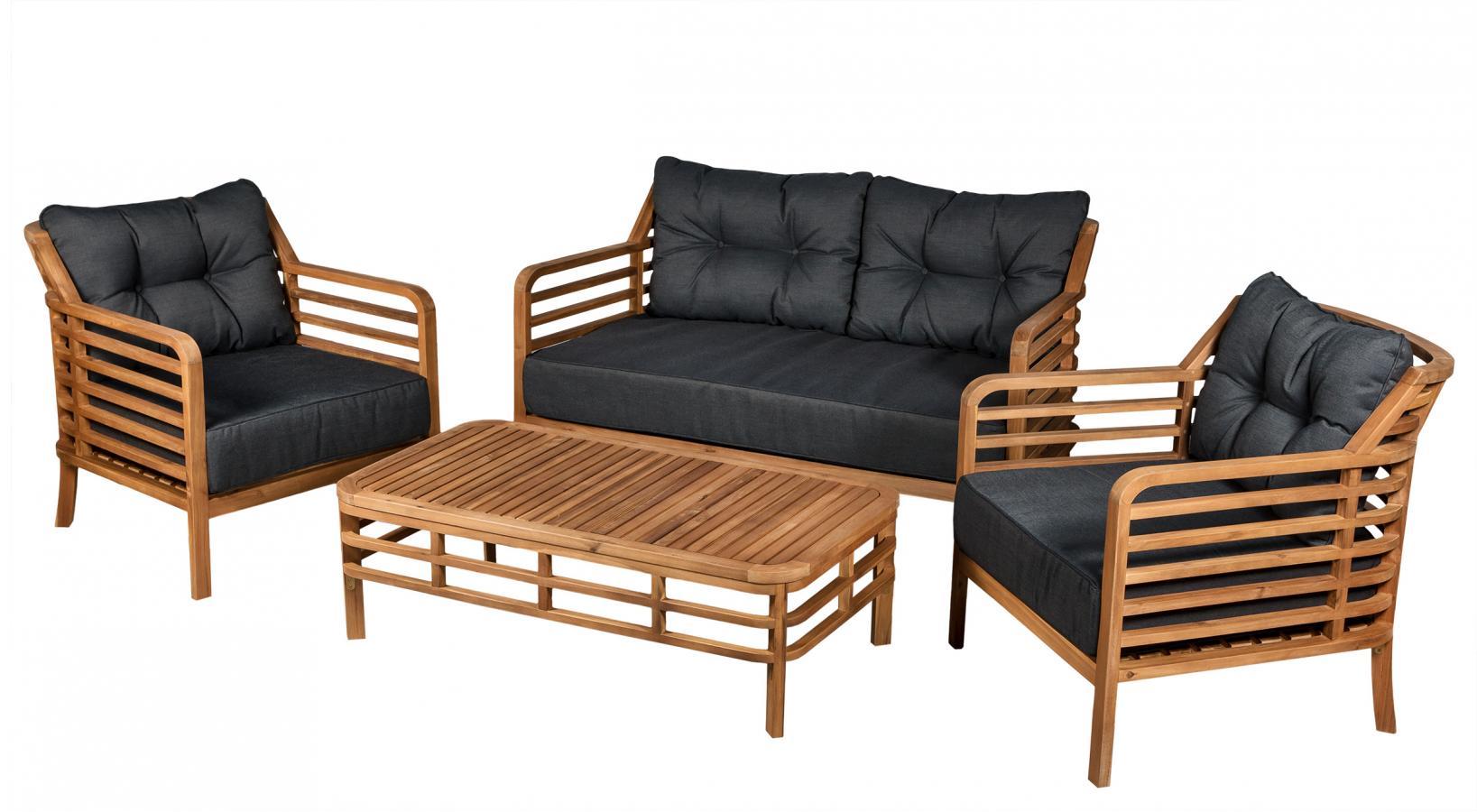 комплект мебели из акации Colorado купить в магазине садовой мебели Azzura