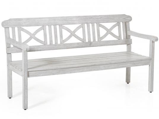 Скамейка белая Dakota 165см