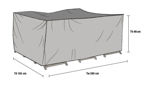 Накидка для мебели 200*165*86 см (1010-7)