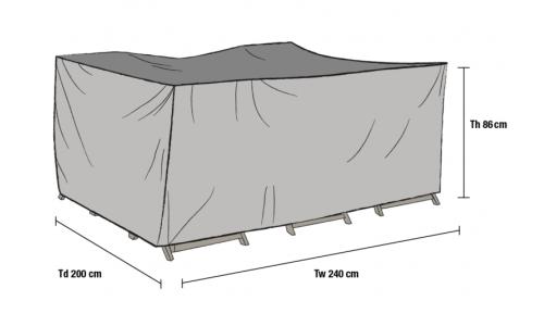 Накидка для мебели 240*200*86 см (1012-7)