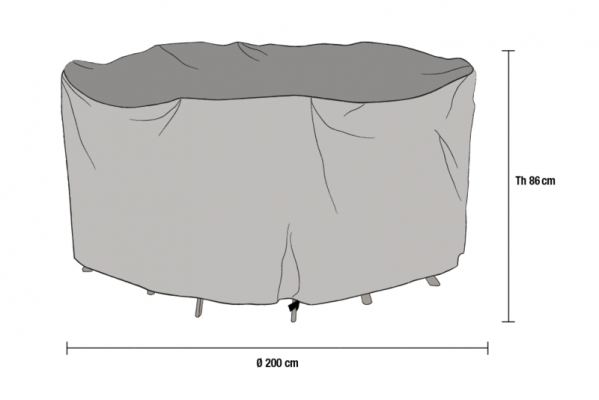 Накидка для мебели Ø200 см H76 см (1020-7)