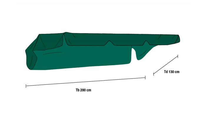 Тент для качелей зеленый (1050-3)