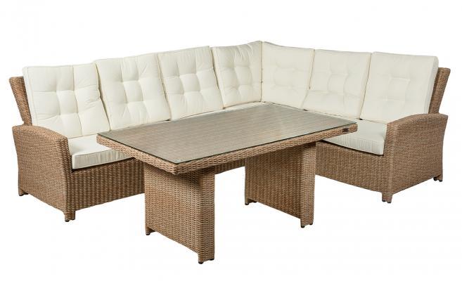 Угловой диван со столом Orlando