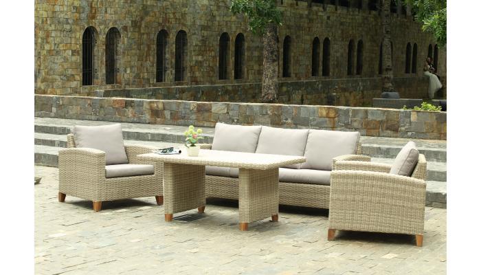 Плетеный комплект мебели Minerva с обеденным столом