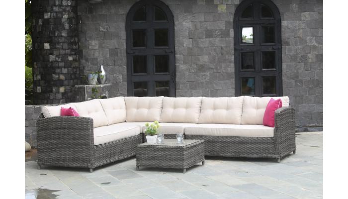Плетеный угловой диван Palermo