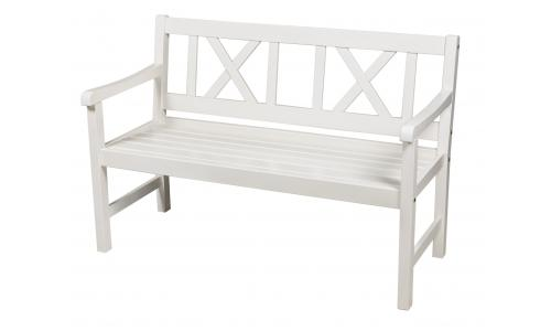 Скамейка садовая белая Onsala 129см