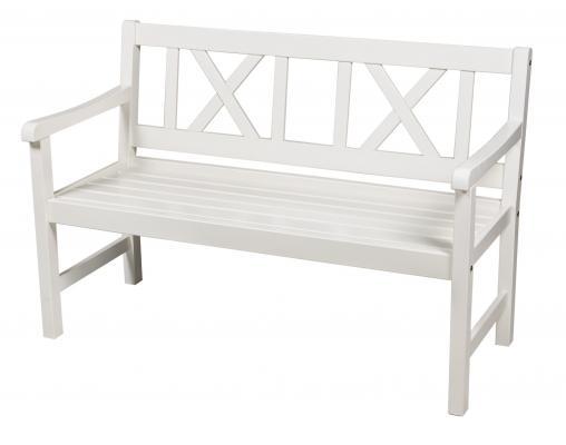 Скамейка садовая Onsala 129см (Белая)