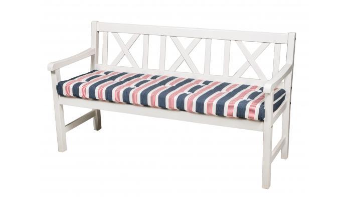 Скамейка садовая белая Onsala 150см