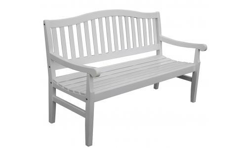 Скамейка садовая белая Rosendal 775046