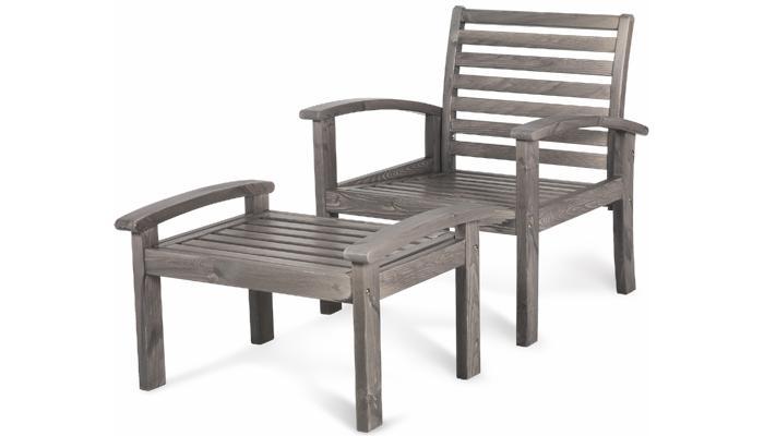 Кресло серое Visby