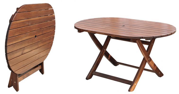 Стол складной Madrid 140x85 см (Капучино)